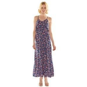 Lauren Conrad LC Blue Floral Maxi Dress